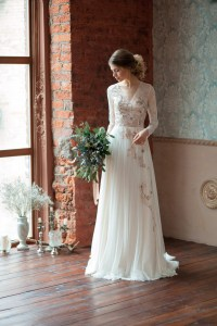 Lace wedding dress GLORIA / Long sleeves wedding dress