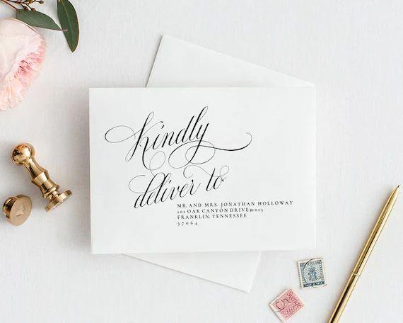 wedding addresses template
