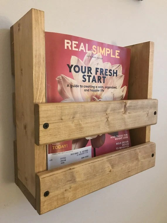 Magazine Rack Wall Mounted Magazine Rack Wood Magazine