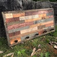 Rustic Coat Rack Wood Wall Art