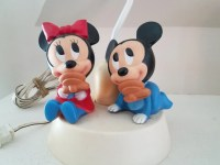 Vintage Baby Mickey & Minnie Mouse Lamp with Night by ...