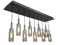 Clear Wine Bottle Light Fixture: Modern Lighting Dining Room