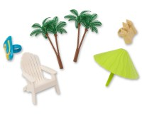 Hawaiian Beach Chair and Umbrella Cake Decorating Kit ...