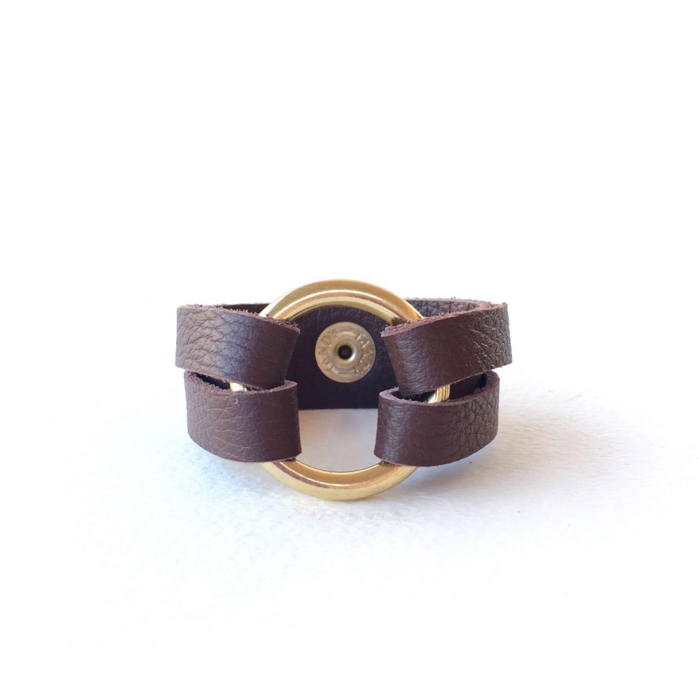 Brown Leather Wrap Bracelet Leather Wrap Cuff Bracelet