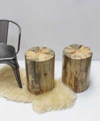 Tree Stump Nightstand End Side Table Stool Seat by ...