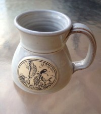 No spill Mug Duck Mug Wide Bottom Mug Stoneware Mug Coffee
