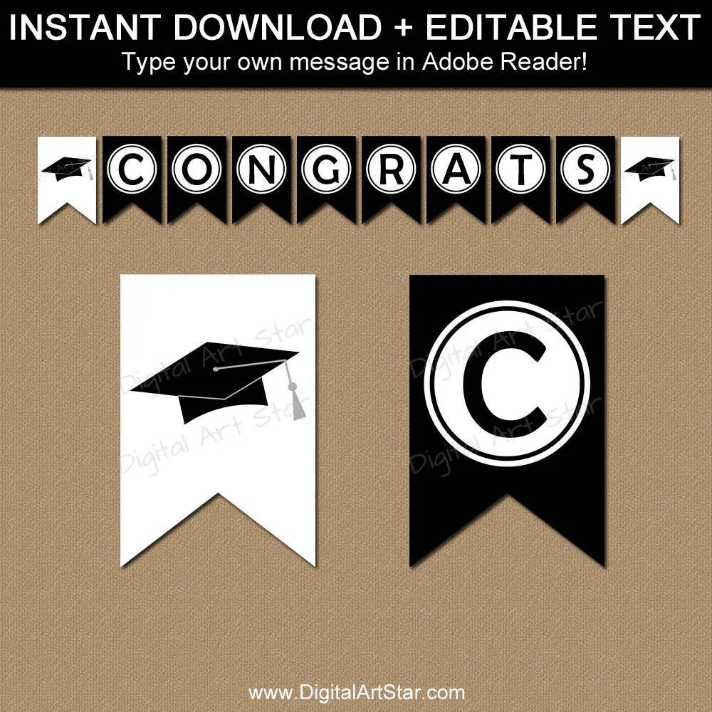 College Graduation Banner, Party Decorations, Bunting Banner