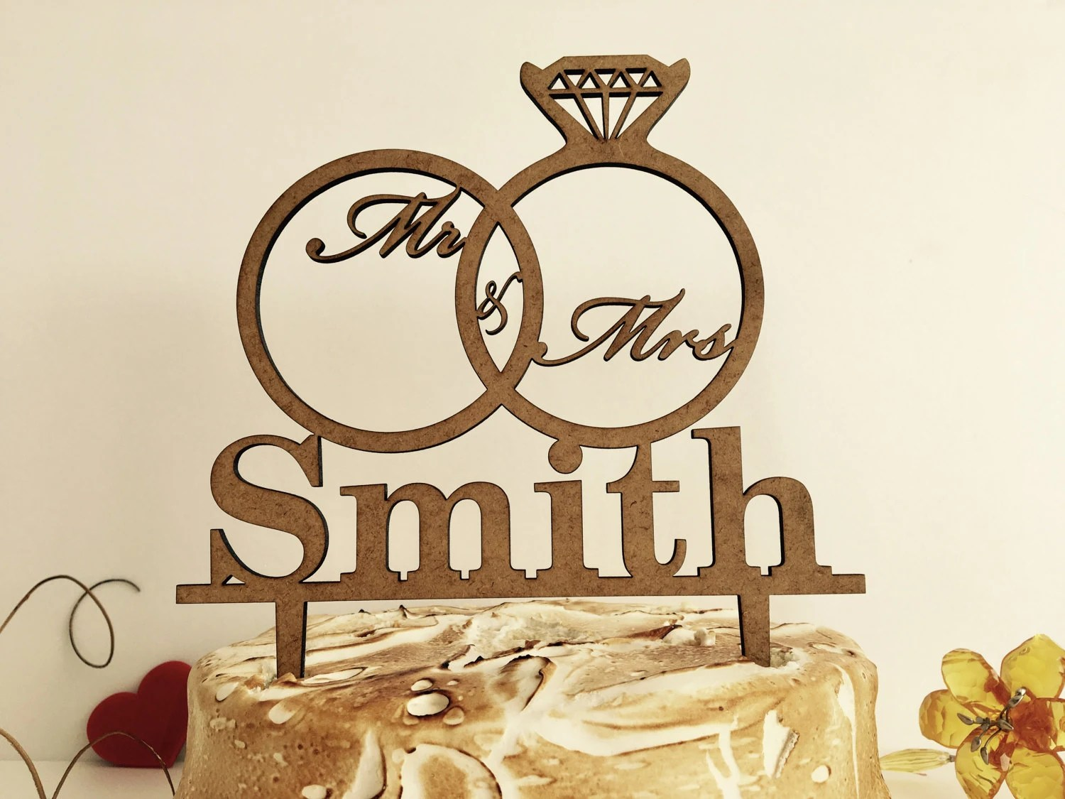 personalized wedding cake topper mr and wedding ring cake topper Personalized Wedding Cake Topper Mr and Mrs Custom Cake Topper Wooden Cake Topper Ring Cake Topper Wedding Rings with Mr Mrs laurel wreath