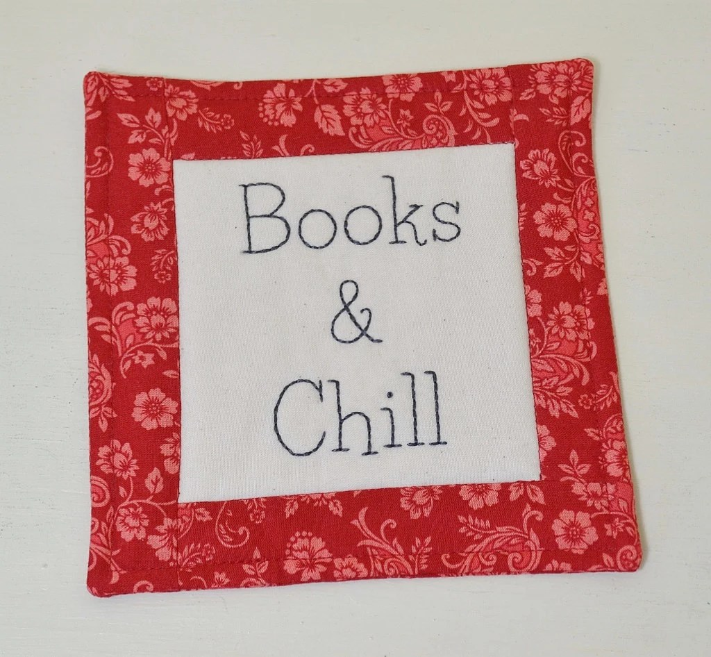 Book Lover Gift Book Lover Gift Books And Chill Coaster Bookworm Mug Rug