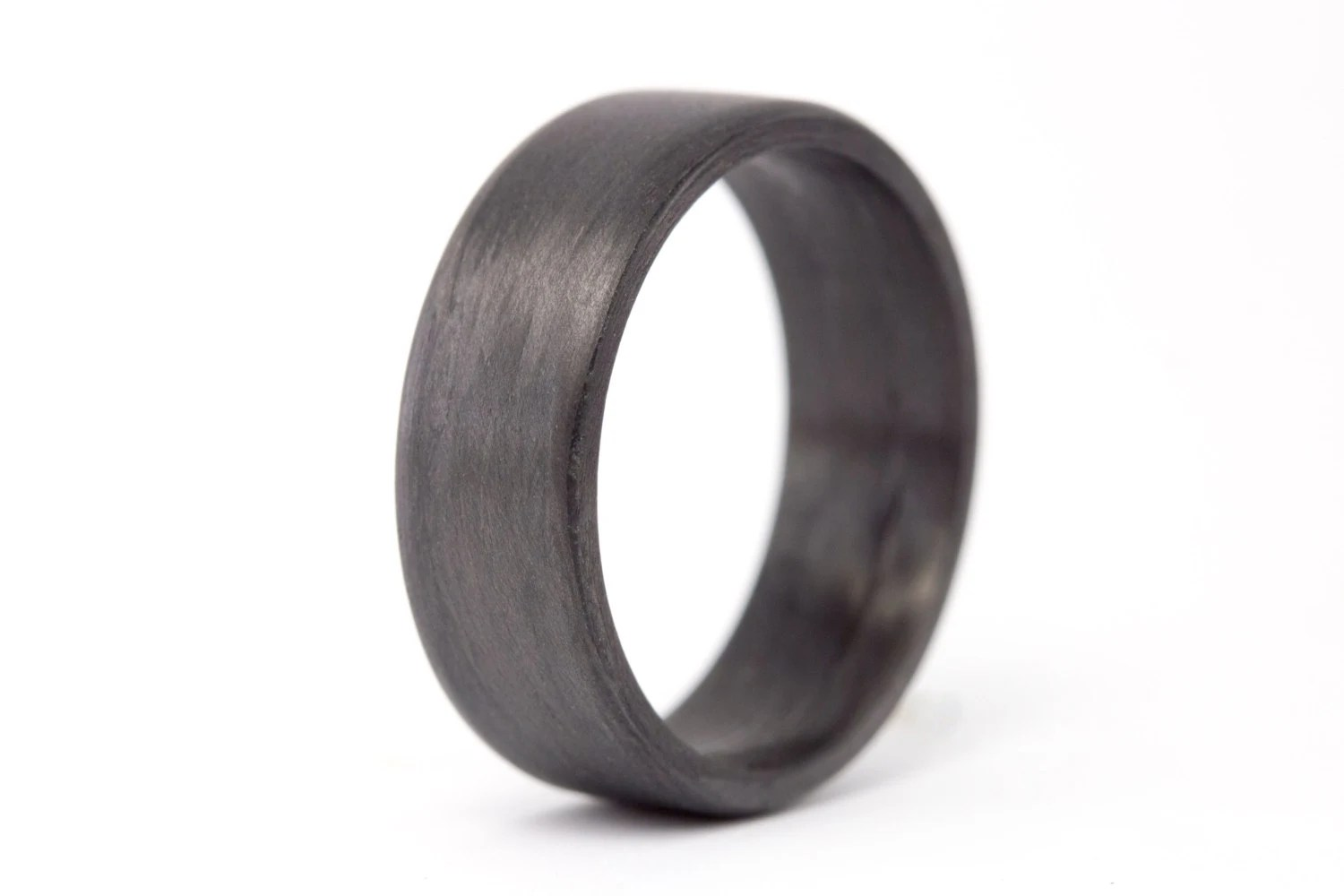 carbon fiber ring carbon fiber wedding bands Men s carbon fiber flat ring Unique and instrial black wedding band Water resistant very durable and hypoallergenic 7N