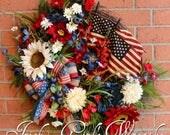 Patriotic Wreath, America...