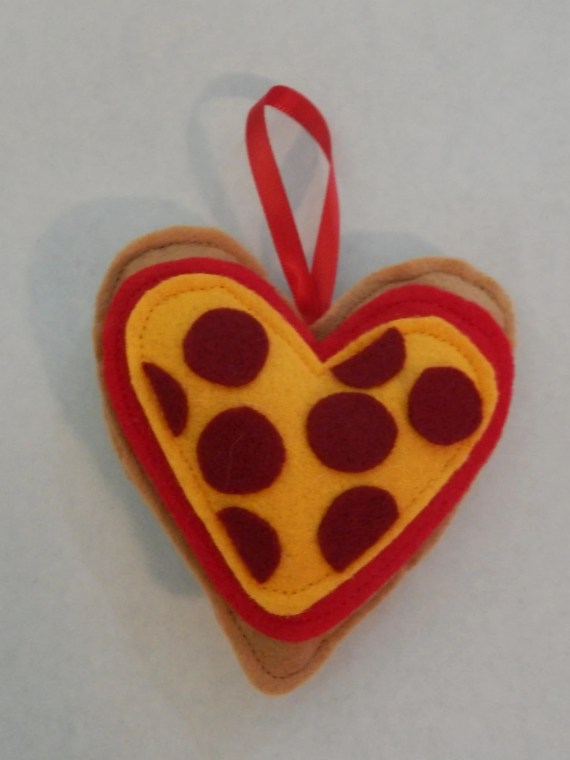 Heart Pizza Ornament