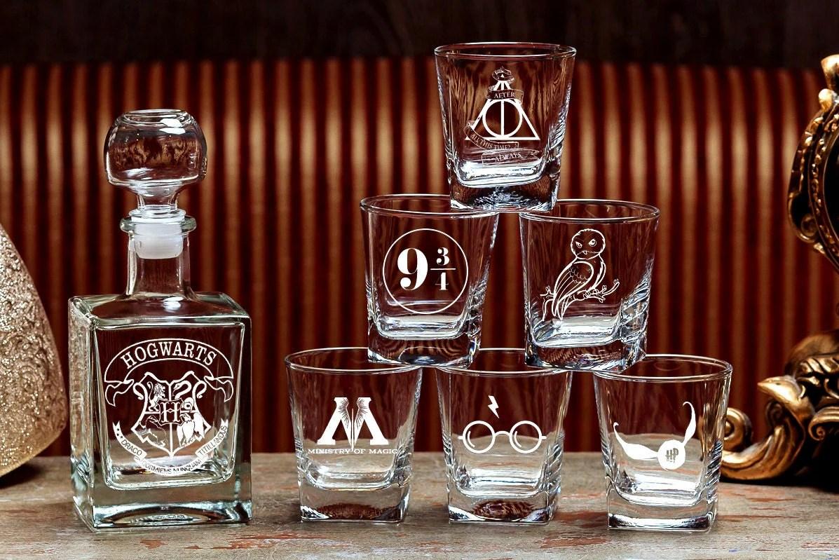 harry potter wedding harry potter wedding bands Harry Potter Harry Potter wedding gift For men Groomsmen gift Hogwarts Harry Potter Wedding gift Whiskey glasses Whiskey decanter set