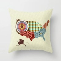 USA Pillow, State Pillow, State Gifts, Made In USA, USA ...