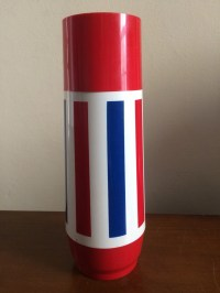 Red white thermos | Etsy