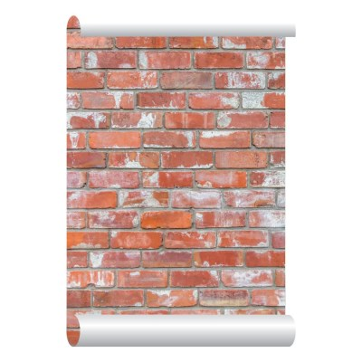 Items similar to Self-adhesive Removable Wallpaper, Red Brick Wallpaper, Peel and Stick ...