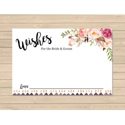 Small Crop Of Wedding Wishes Card