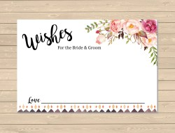 Small Of Wedding Wishes Card