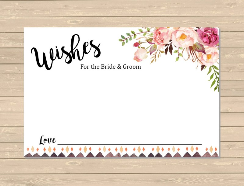 Large Of Wedding Wishes Card