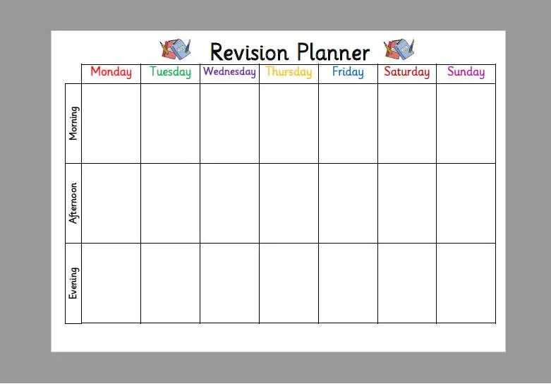 1 revision timetables learning objective to plan a revision