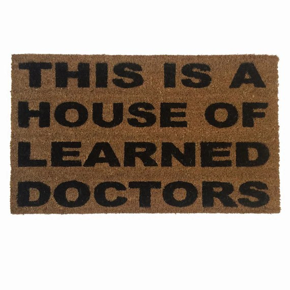 House of Learned Doctors Stepbrothers funny doormat meme eco - credit card payment calculator