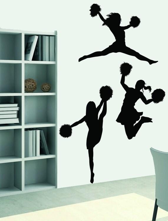 Large Cheerleader Wall Decal Cheer Wall Sticker