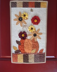Fall Door Hanger/Quilted Wall Hanging/Kimberbell Designs/Wool