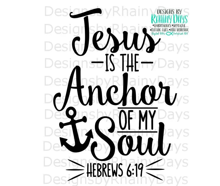 Cute Rustic Fall Wallpapers For Laptop Buy 3 Get 1 Free Jesus Is The Anchor Of My Soul Hebrews 6