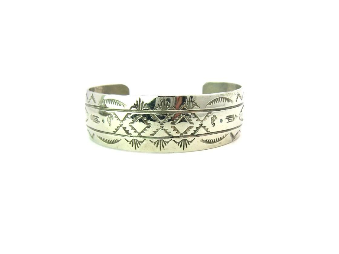 Navajo Bracelet Hand Stamped Cuff Bracelet By