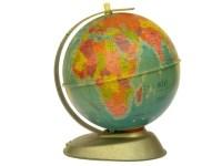 Vintage World Globe Desk Lamp. Illuminated Map Globe Lamp ...