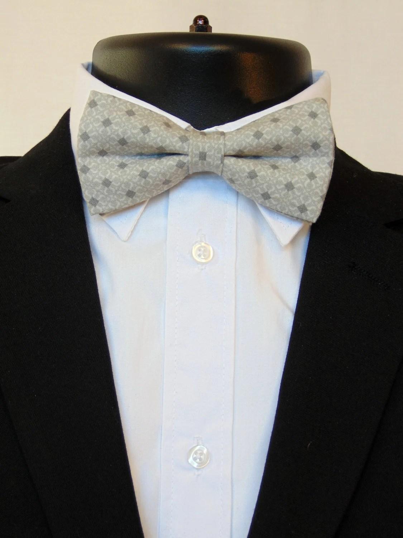 Grey Bow Tie Grey Bowtie Mens Bow Tie Mens Bowtie Gray Bow