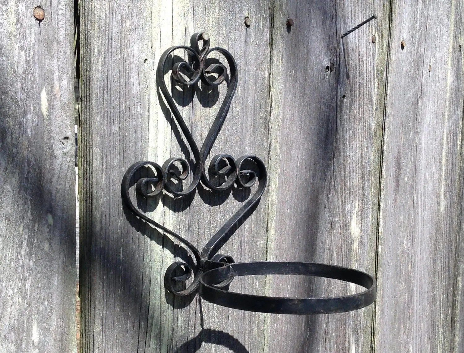 Wall Mounted Plant Holders Wrought Iron Ring Plant Holder Wall Mounted Planter Flower Pot