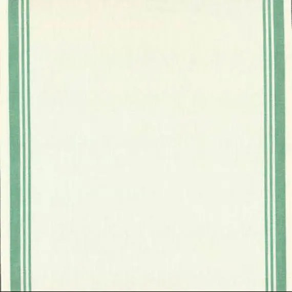 "16"" Toweling - White with Green"
