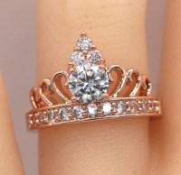 Vintage Style Crown ring/Tiara Ring/Crown ring/Rose gold crown