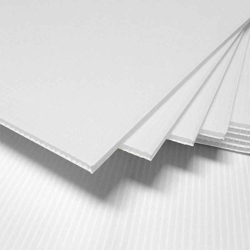 10 WHITE corrugated blank sign sheet 4mm x 12 - blank sign in sheet