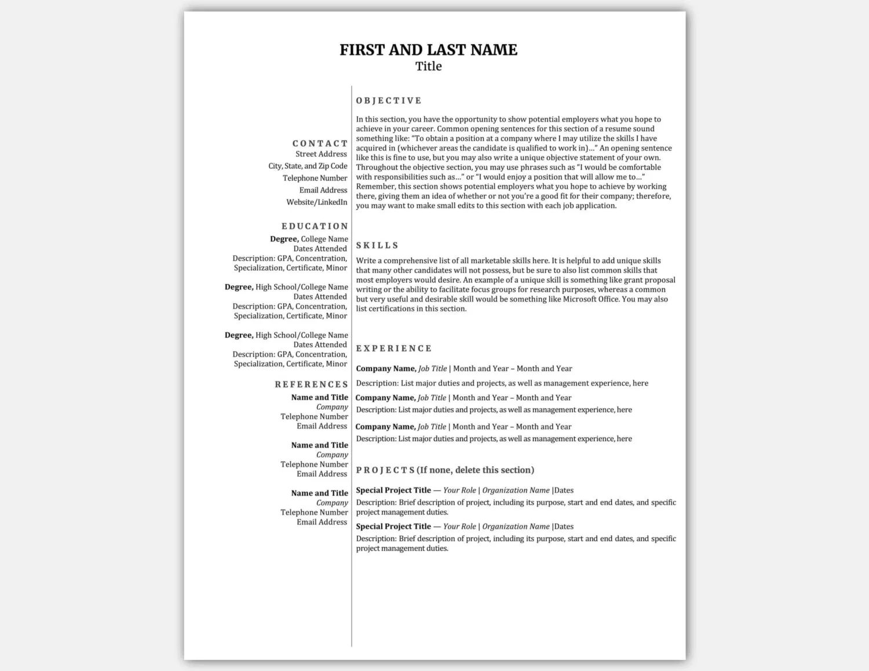compact cv template