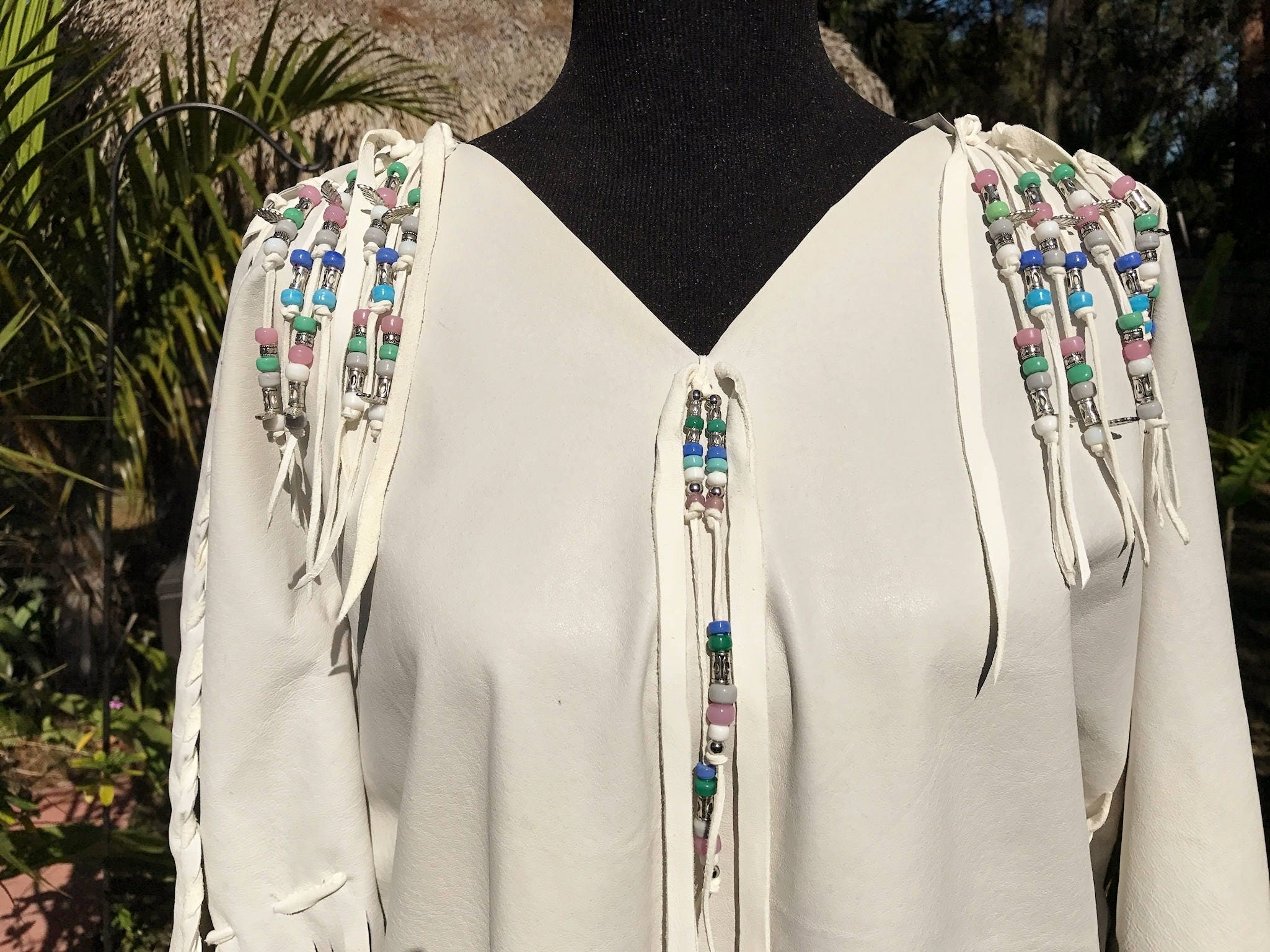 leather wedding dress with cape native native american wedding dress Leather Wedding Dress with Cape Native American Style Fringed Light Gray Pigskin Dress Pow Wow Regalia with White Deerskin and Beads
