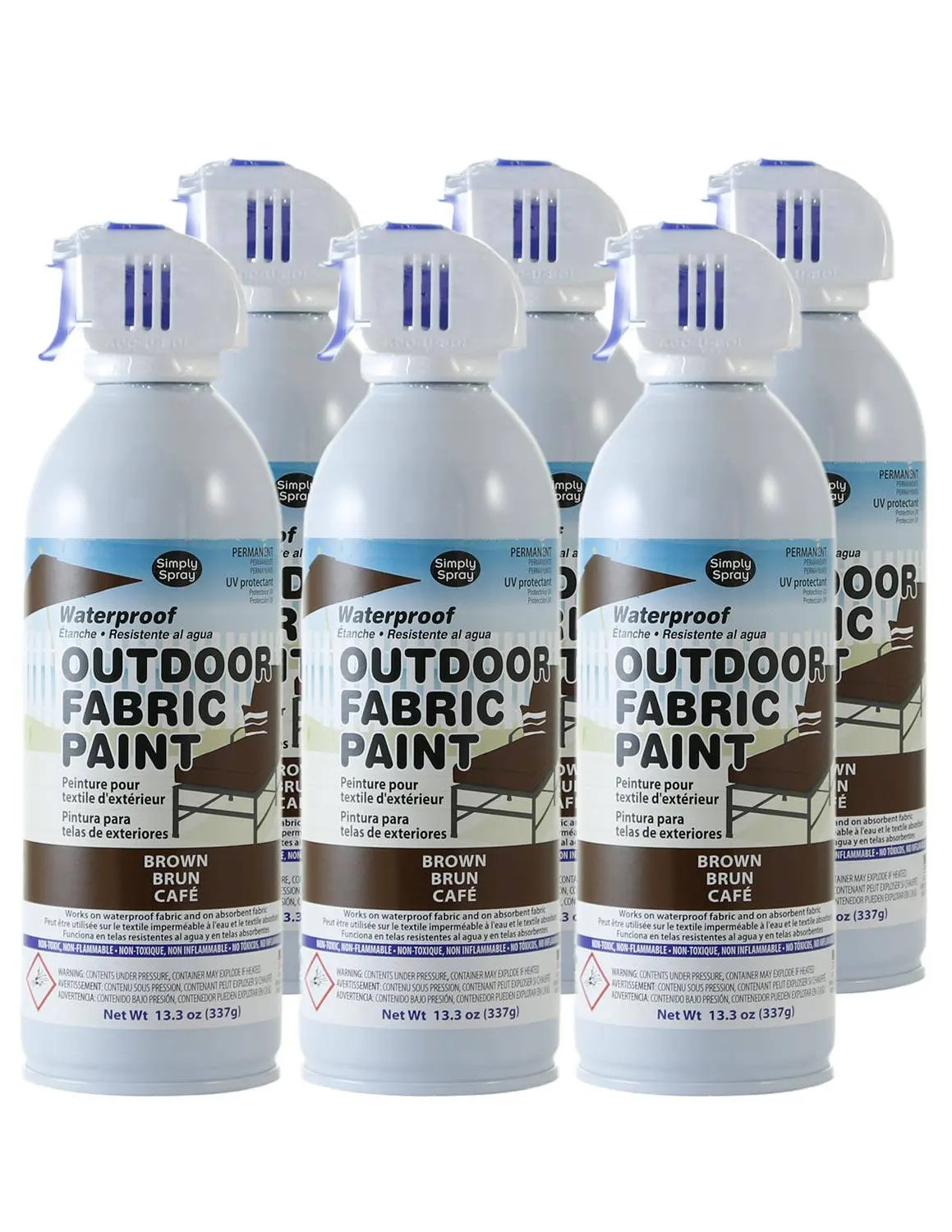 Simply Spray Outdoor Waterproof Fabric Spray Paint Brown 6 - Waterproof Spray For Fabric