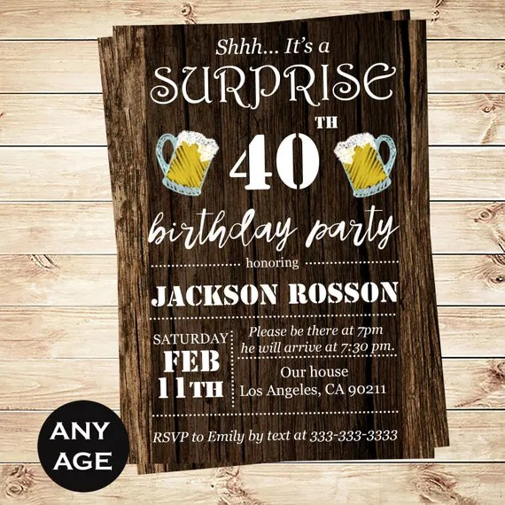 Cheers and Beers printable invitation template for him - Printable