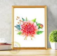 Chrysanthemum Chrysanthemum Print Flower Wall Art Botanical
