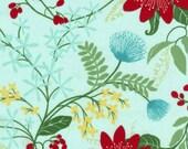Vanessa Vargas Wilson Fabric Collection - Dominicana - Large Floral Aqua