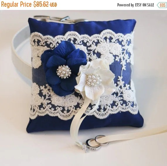 Royal Blue Ring Pillow Dog Ring Bearer By Ladogstore On Etsy