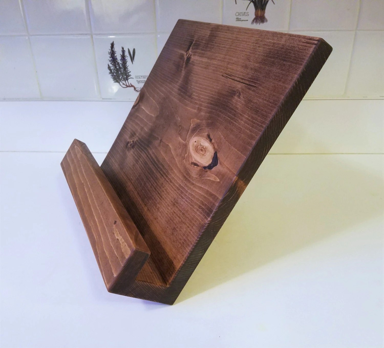 Handmade Cookbook Tablet Ipad Stand Holder By Rickwoodstudio