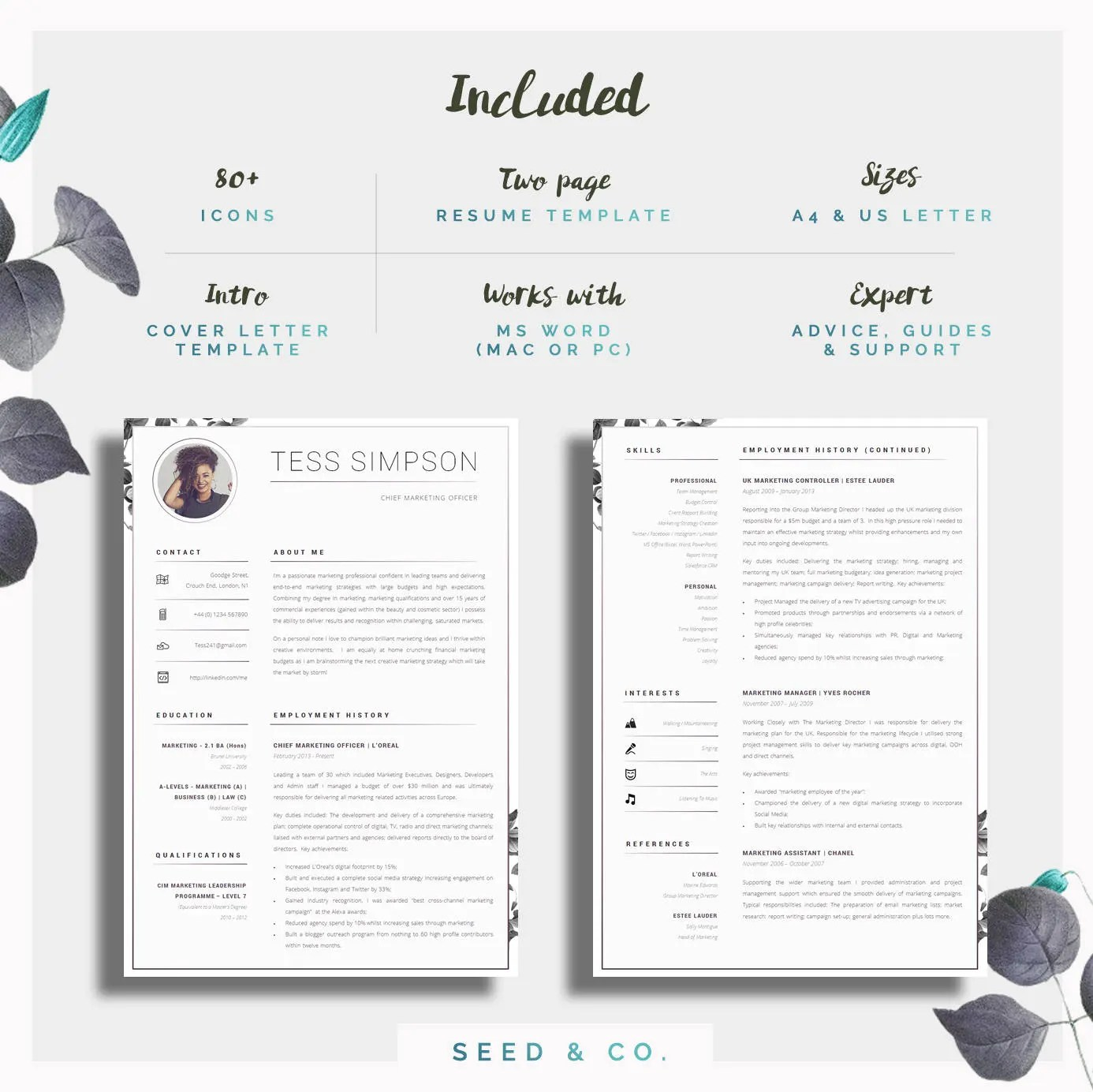 two page resume format