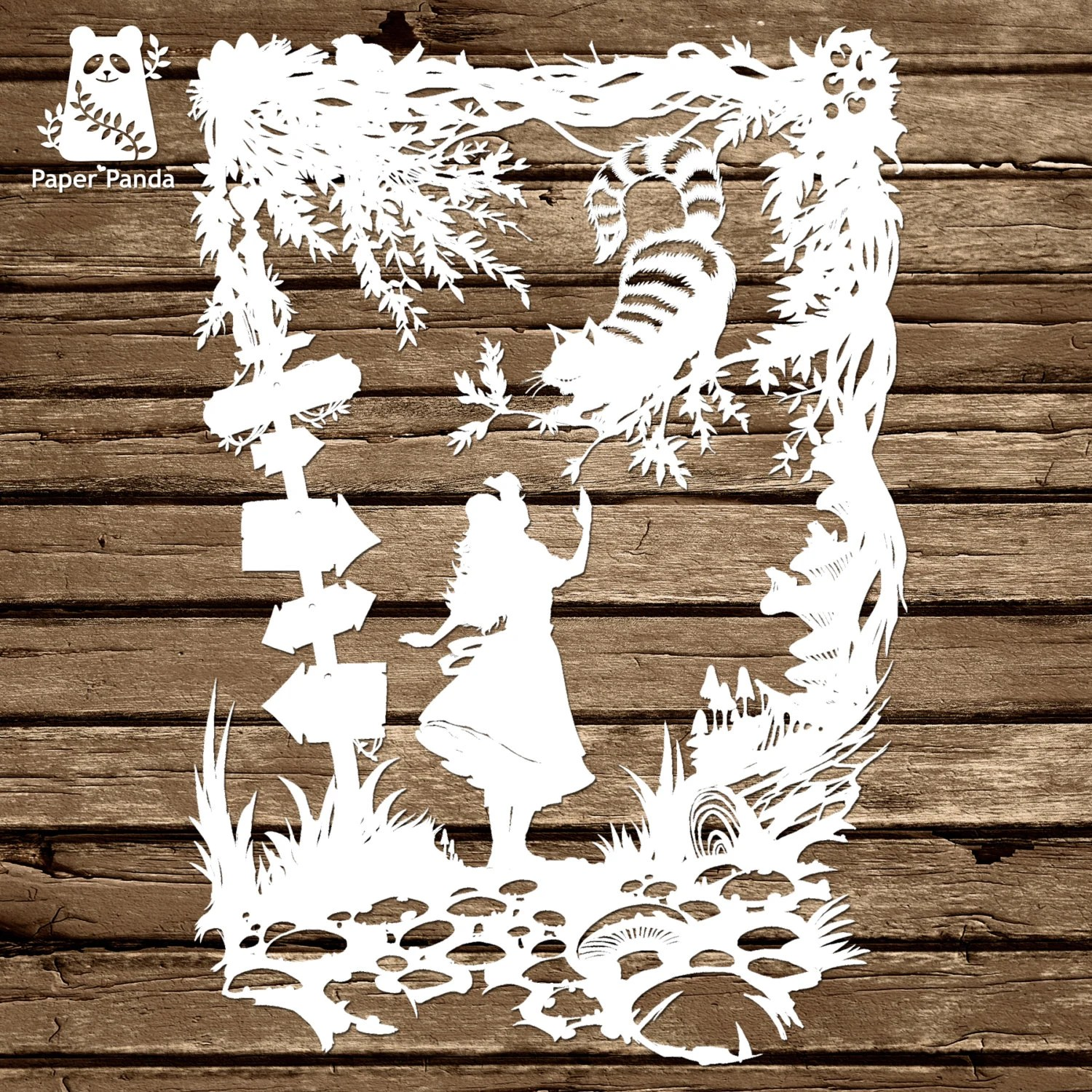 PAPER PANDA Papercut DIY Design Template u0027Cheshire - commercial purchase agreements