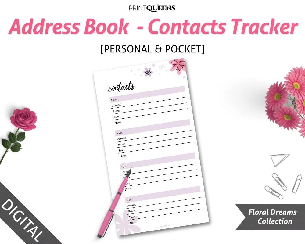Personal Contact List Template u2013 Arabnormainfotop printable
