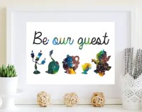 Be Our Guest Canvas: Beauty and the Beast Disney Quote