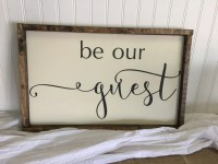 Be Our Guest Wall Decal Vinyl Wall Decals Home Decor Wall