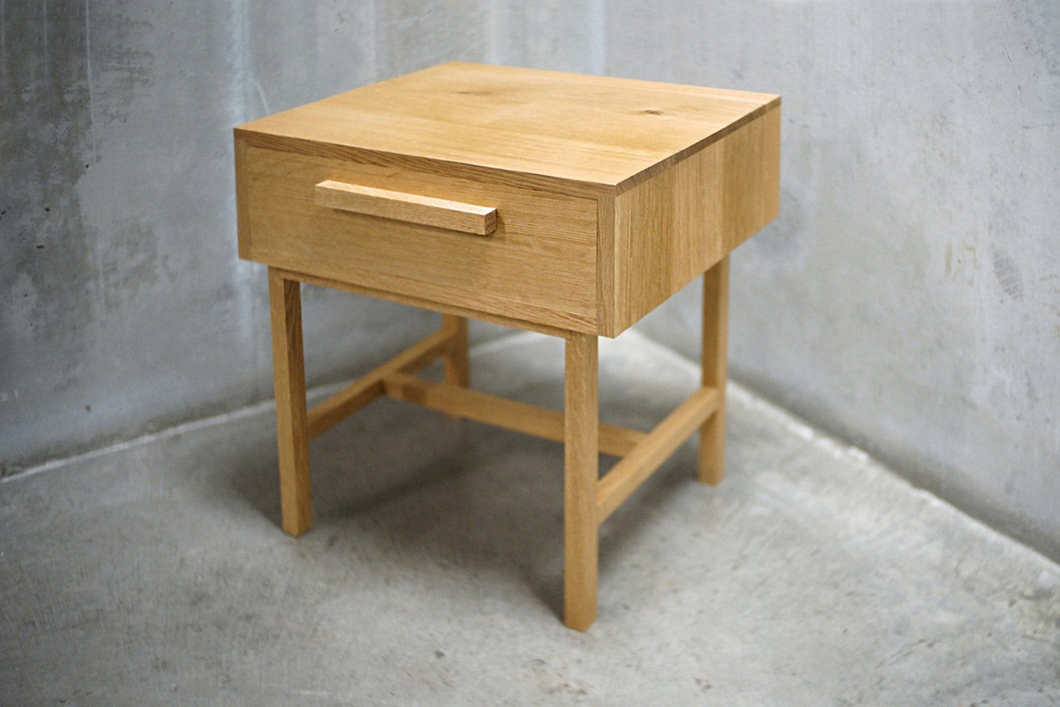 Oak Side Table With Drawer Solid White Oak Side Table Nightstand With Drawer