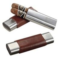 Personalized Cigar Case Travel cigar holder Custom Engraved